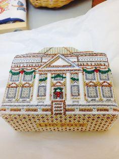 steph's stitching: The White House needlepoint