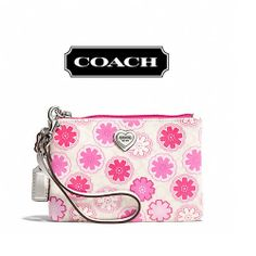 '8 BNWT COACH Floral Print Small Wristlet ' is going up for auction at 11am Fri, Jan 31 with a starting bid of $25.
