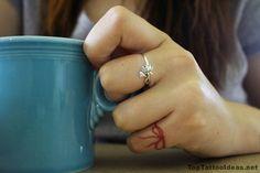 Red String Tattoo Idea