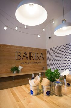 BARBA Restaurant on Behance – Fun and simple approach to restaurant branding and interior treatment.