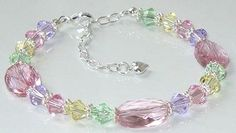 Get ready for Spring with this pretty Swarovski Soft Pink and Pastel Beaded Bracelet  by BestBuyDesigns, $22.00