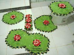 Isabel Crochê           : Jogo de banheiro 5 peças em crochê