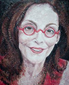 Sweet Louise Encaustic Portrait by Kara Brook