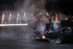 Charles Platiau / Reuters Car crash fashion on the Paris catwalk Models present creations by Italian designer Riccardo Tisci from his Spring. Catwalk Models, Multiple Exposure, Givenchy Paris, Labor, Car Crash, New York Fashion, Paris Fashion, Photojournalism, Eminem