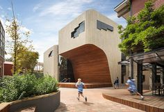 woods bagot carves section out of girls school in melbourne