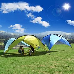 Desert Fox ExtraLarge Triangle Awning Beach Canopy Tent and Sun Shelter with UV Protection 1889x1889 Sapphire Blue ** Click on the image for additional details. (This is an affiliate link) #CampingTents
