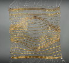 ✩ Check out this list of creative present ideas for people who are into photograhpy Weaving Textiles, Weaving Art, Tapestry Weaving, Texture Metal, Gold Texture, Creative Textiles, Textile Fiber Art, Pleated Fabric, Fabric Rug