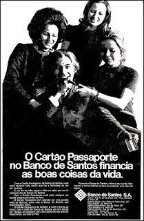 Anúncio Banco Santos - 1972