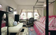 Hopefully my daughter ( or nieces..lol) will be girly and uptown. Love this!  The designer in me still loves to browse through beautiful rooms.