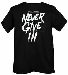 hot topic black veil brides t shirts | Black Veil Brides Never Give In Slim-Fit T-Shirt (910671) $20.00