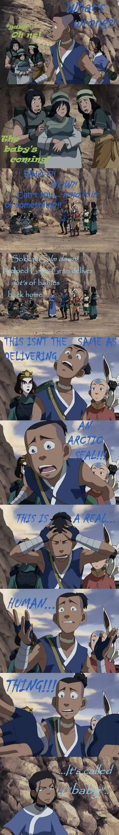 Avatar The Last Airbender - And Sokka freaks out...