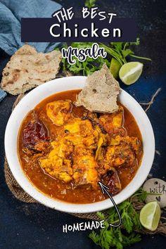 Indian Food Recipes, Asian Recipes, Ethnic Recipes, Chicken Tikka Masala, Chicken Curry, Missi Roti, Onion Gravy, Indian Chicken