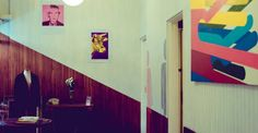 Diseño y ambientación de salón para local de comidas fastgood & deli. Brocoli Pop. Sector baños.
