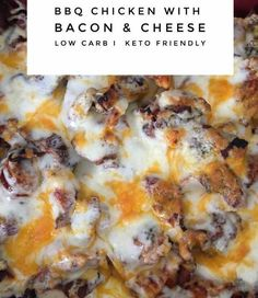 Low Carb BBQ Chicken Cheese & Bacon Casserole