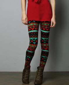 Eccentric Explorer Red and Green Leggings Green Leggings, Cute Leggings, Christmas Leggings, Patterned Leggings, Cute Skirts, Playing Dress Up, Dress Me Up, My Outfit, Dress To Impress