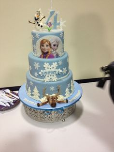 Frozen Cake Samaras Birthday Ideas Pinterest