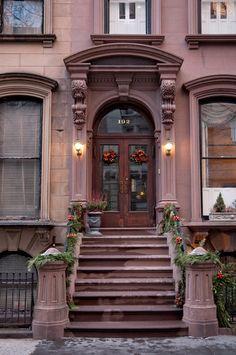 winter evening #3, 192 Columbia Heights (1856), Brooklyn Heights, New York | Flickr - Photo Sharing!