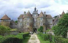 The Chateau de Ratilly at Treigny in the Yonne département of France's Burgundy region. This 13th century chateau was built by Matthew Ratilly in 1270 and is now used for arts educational purposes.