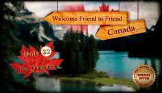 Promoción de Bienvenida Friend to Friend Canadá