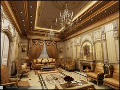 Classic interior In Ksa by Amr-Maged.deviantart.com on @deviantART