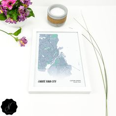 Custom Map Printable Wall Art, Modern Custom City Map Prints, Personalized Map, Custom Map Gift Wall Art, Custom Map Digital Prints