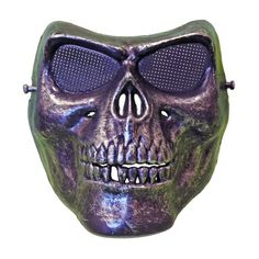 Skeleton Scary Halloween Mask With Silver Colouring Scary Halloween Masks, Scary Mask, Fancy Dress Masks, Colouring, Skeleton, Skull, Dress Party, Silver, Color