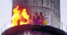Wanita terbakar diri sendiri ketika protes di Punjab, India.