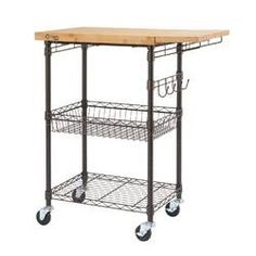 Trinity Expandable Surface Kitchen Cart with Solid Wood Top Base Finish: Bronze Narrow Kitchen Island, Kitchen Island Cart, Kitchen Islands, Kitchen Carts, Kitchen Ideas, Kitchen Inspiration, Diy Kitchen, Kitchen Decor, Stainless Steel Utility Sink