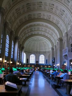 Enjoy a quiet place to read or study at the historic Boston Public Library.