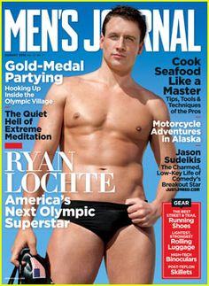 Olympic Swimmer Ryan Lochte: Shirtless for 'Men's Journal'!  Definitely gonna pick this up on Friday!
