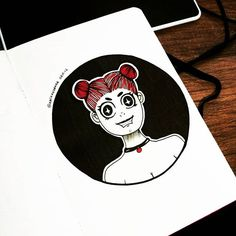 34/365 - Garota de olhos brilhantes 😍  #instart #nankin #unipin #fineline  #partiuevoluir #aprentendo #treinando #365drawings #365days #desenho #arteportodaparte #desenhando #draw  #drawing #onedrawingaday #onesketchaday #sketch #sketchday #arte #art #illustration #girlsdrawinggirls #happy #brilhonosolhos #feliz #menina #garota #girl