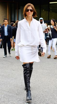 How To Really Wear Over The Knee Boots: A WWW Editor Tries The Trend