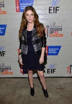 Anna Kendrick outfitted her LBD with a plaid blazer.