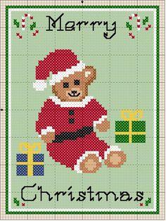 Christmas Bear Cross Stitch Pattern