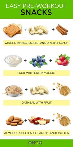 The best pre-training fuel for every kind of workout. Deciding what to eat before a workout is always about finding the right balance. You have to provide your body with the energy it needs to perform at your best during the session, but you don't want to feel heavy or bloated with food while you're working up a sweat. Greek Yogurt Oatmeal, Oatmeal With Fruit, Eat To Perform, Eat For Energy, Healthy Snacks, Healthy Eating, Apple And Peanut Butter, Post Workout Food, Post Workout Carbs