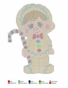 Chubbies Winter Costume Set - Plastic Canvas 5/7 Gingerbread Man