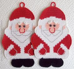 039 Santa Claus Crochet Pattern Father Christmas door LittleOwlsHut, $4.37