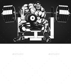 Bodybuilder with Dumbbell by Vector graphics Install any size without loss of quality. ZIP archive contains: - one file - one file JPEG - one file PNG
