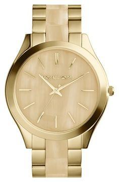 Michael Kors  Slim Runway  Round Bracelet Watch, 42mm Michael Kors Runway  Watch, 099eecb1dd9