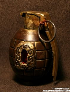 Steampunk hand grenade    an excellent forum for the modding of Nerf and airsoft guns into steampunk, dieselpunk, cyberpunk, etcetrapunk