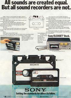 Sony Elcaset ad - www.remix-numerisation.fr - Rendez vos souvenirs durables ! - Sauvegarde - Transfert - Copie - Digitalisation - Restauration de bande magnétique Audio - MiniDisc - Cassette Audio et Cassette VHS - VHSC - SVHSC - Video8 - Hi8 - Digital8 - MiniDv - Laserdisc - Bobine fil d'acier - Digitalisation audio