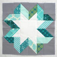 Freshly Pieced: Ribbon Star Block Tutorial--lots of beautiful variation possible (see http://www.mollisparkles.com/p/rainbow-bee-2.html)