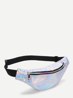 Riñonera iridiscente con patrón floral -Spanish Romwe Unicorn Fashion, Jelly Bag, Accessoires Iphone, Cute Backpacks, Girls Bags, Cute Bags, Luxury Bags, Fashion Bags, Bag Accessories