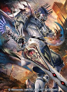 Chrom as a Risen King in Fire Emblem Cipher <--- holy crap risen Chrom is canon! Fire Emblem Fates, Fire Emblem Chrom, Fire Emblem Awakening, Fire Emblem Characters, Fantasy Characters, Arcane Knight, Persona Anime, Character Art, Character Design