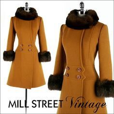 Vintage rabbit fur trimmed coat - vintage fur doesn't count ;)