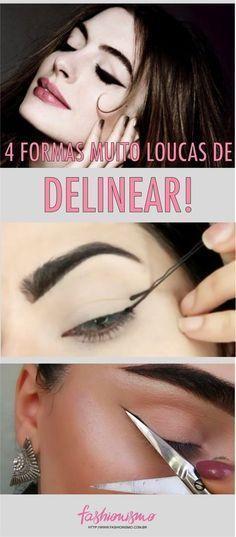 Eyeliner Tips - Eyeliner Tips Eye Makeup, Hair Makeup, Makeup Hairstyle, Hairstyle Ideas, Make Up Tricks, Tips Belleza, Winged Eyeliner, How To Make Hair, Beauty Make Up