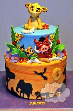 Lion King cake - fondant over chocolate Swiss meringue. Fondant detail.
