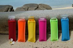 The kids will go crazy over these! No more wrapping a towel or napkin around those Otter Pops to keep their hands from freezing! Otter Pops, Freeze Pops, Popsicle Molds, Ice Pops, Popsicles, Frozen, Water Bottle, Icecream, Napkin