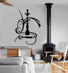 Shisha Wall Sticker Vinyl Eastern City Hookah Window Decals Shisha Smoking Weed Decal Mural Art Home Bedroom Decor