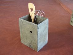 Slate Utensil Holder made from reclaimed slate roof tiles